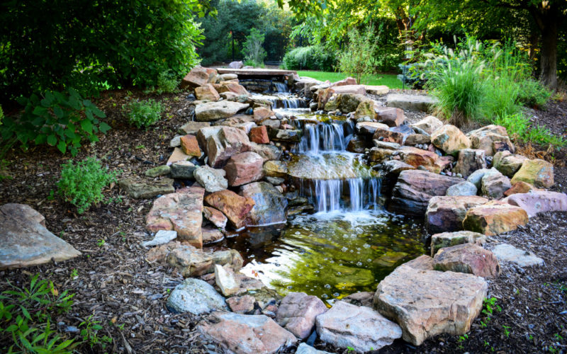Pondless Water feature made by Breaking Ground.