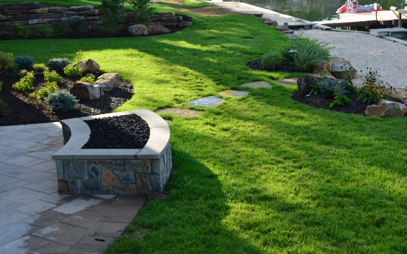 Fire Pit and Path