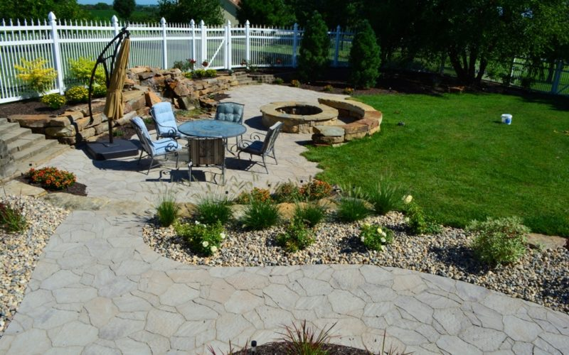 Mega Arbel paver patio by Breaking Ground.