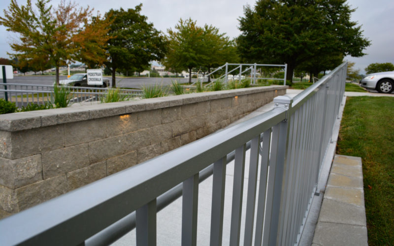 Access railing and wall lighting
