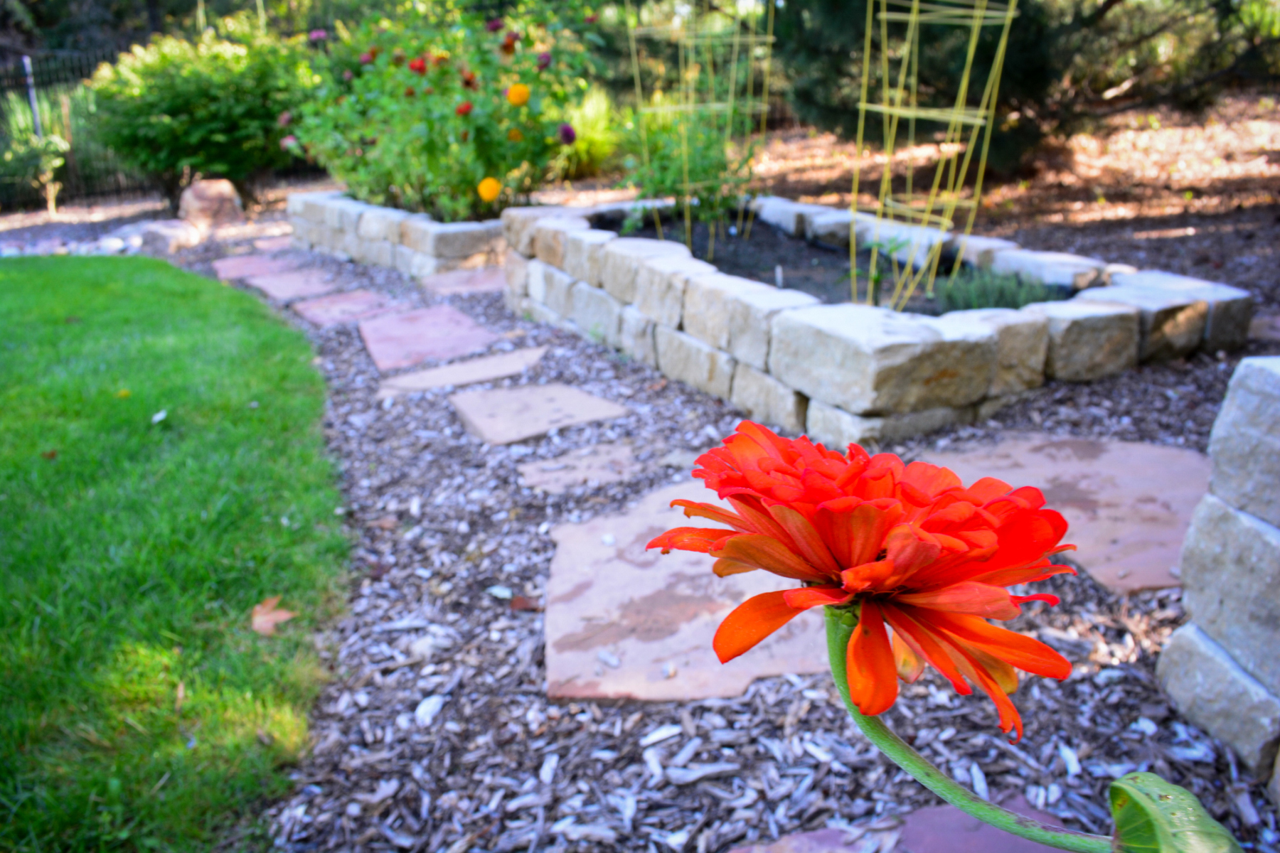 Garden-bed-natural-stone