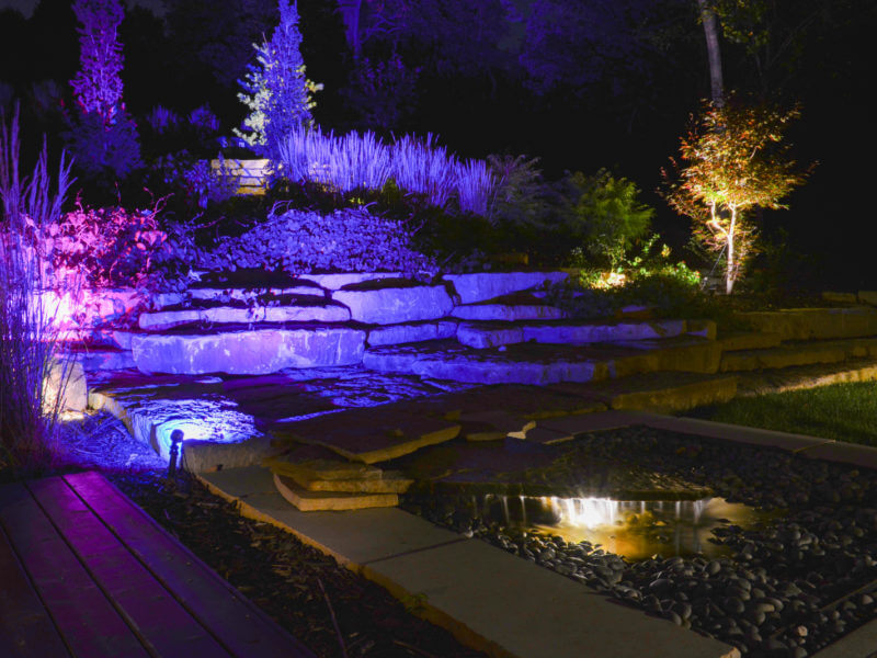 Lighting on water feature