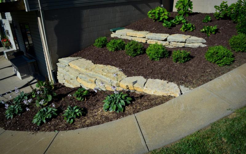 Natural Stone Retaining Wall 3