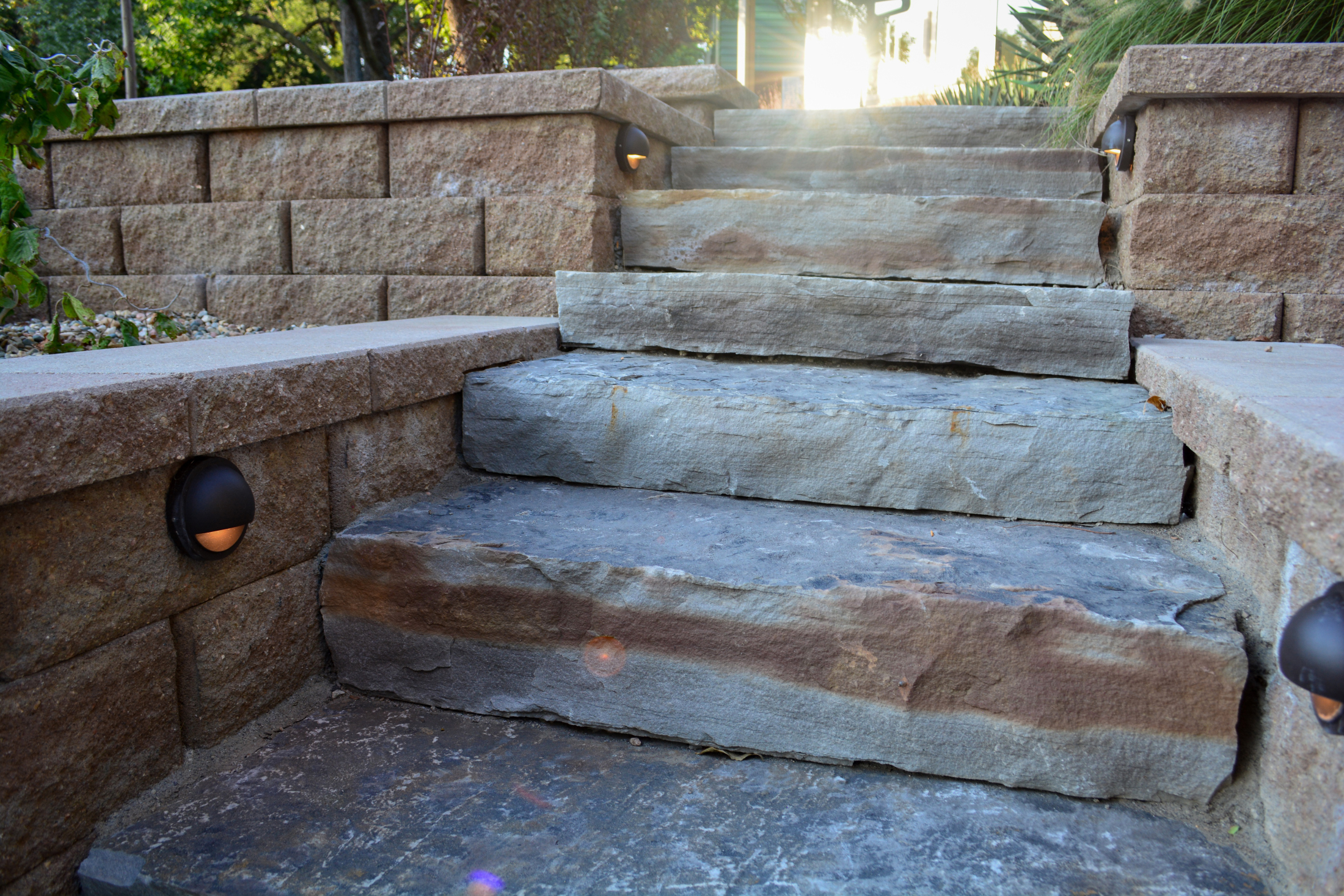 ... Natural Stone Stairs With Sun ...