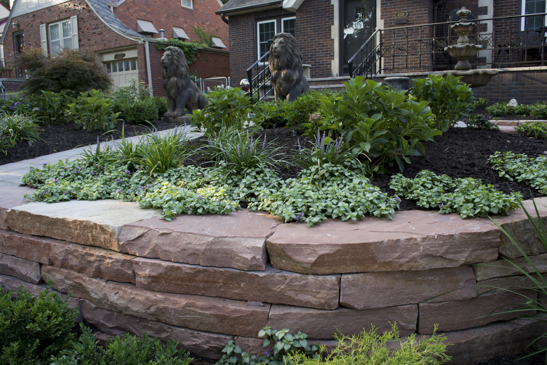 Natural-stone-retaining-wall