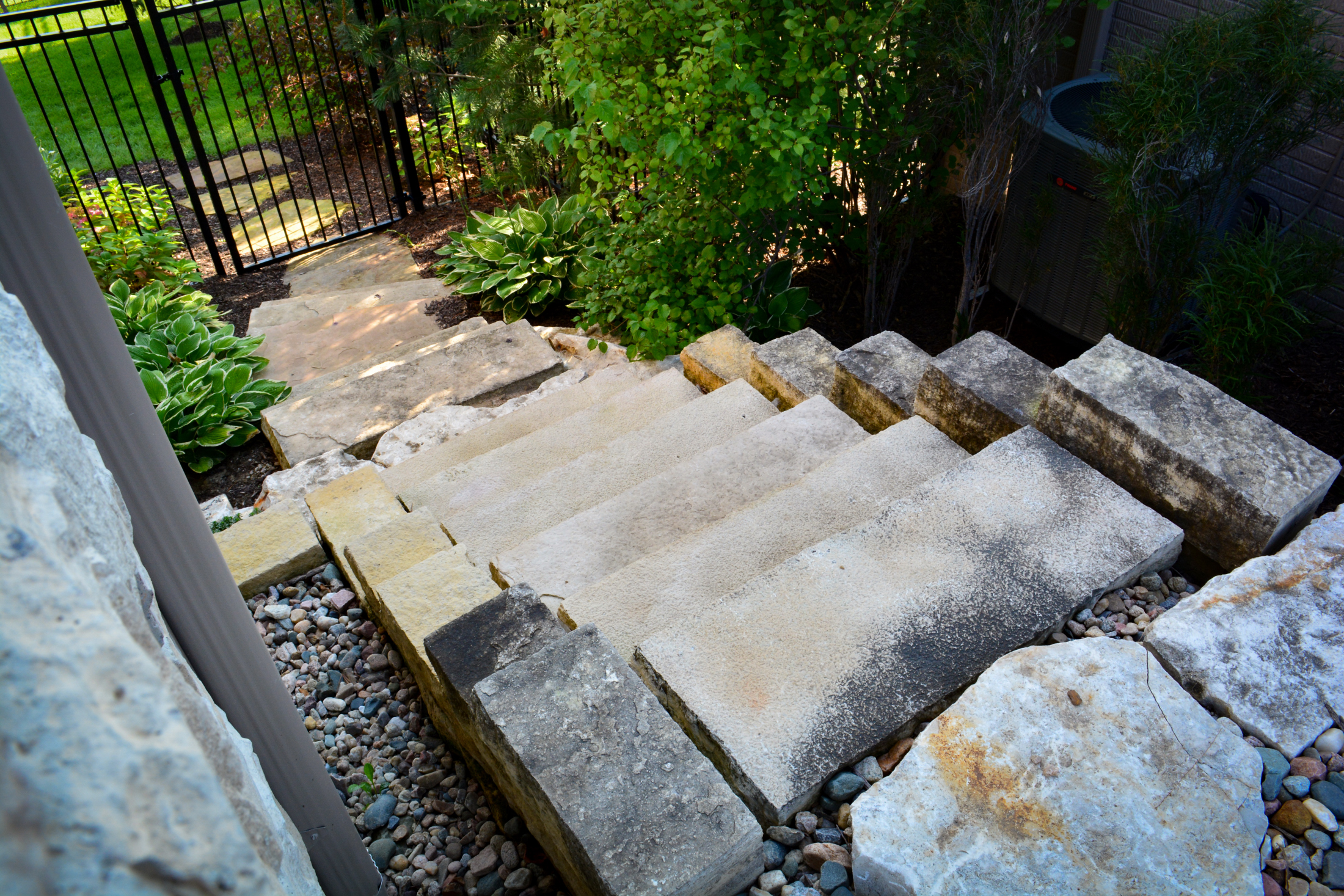Natural-stone-steps-from-above