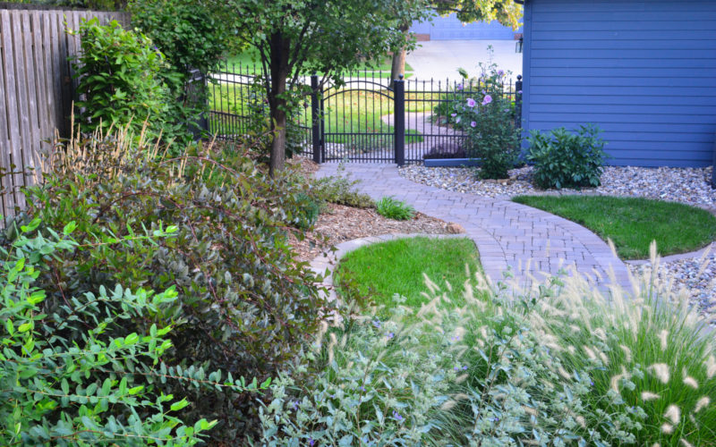 Planting Bed and winding path