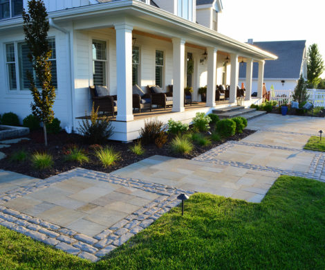 bluestone paver entry design
