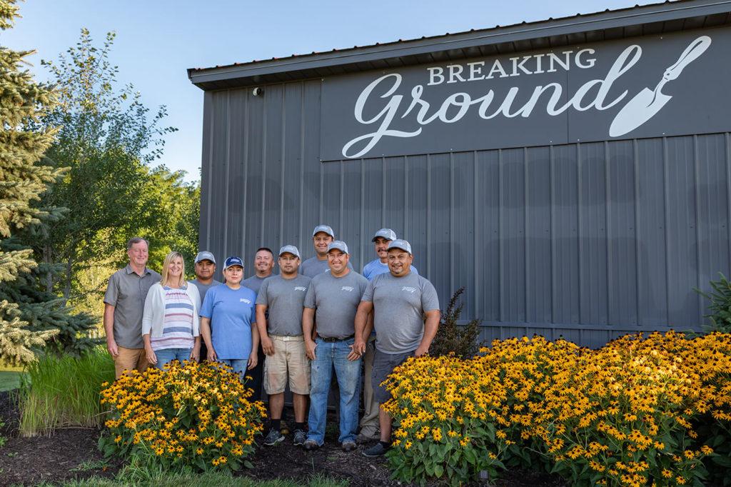 landscape design team at Breaking Ground Omaha